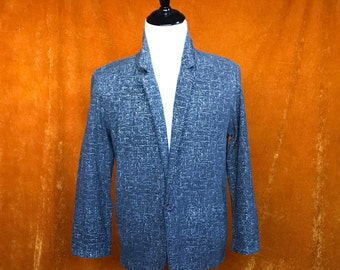 Vintage 1980s, Mens Medium, Black and White, Blazer