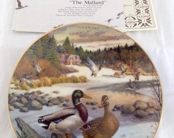 "Bradford exchange ""The Mallard"" Duck Plate~Edwin Knowles China Plate~Artist Jerner"