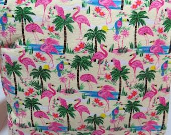 Quillow - Theme - Flamingos, Parrots & Palm Trees