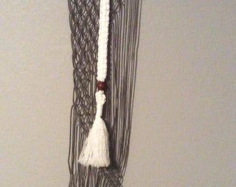 Macreme wall hanging with bead