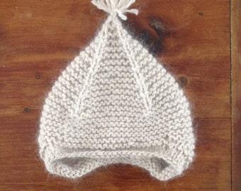 Angora Merino Knitted Infant Hat