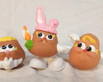 Vintage 1987 Hasbro Playskool Mr. Potato Head Spud Kids baby bunny & extras for Easter Baskets