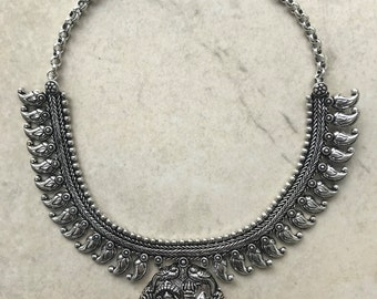 Lakshmi and Vishnu Pendant Necklace