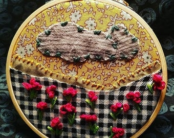 Strormcloud Poppies Embroidery