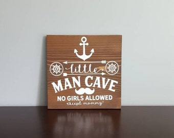 Little Man Cave Wood Sign