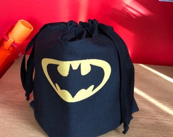 Handmade batman treat bag with cape
