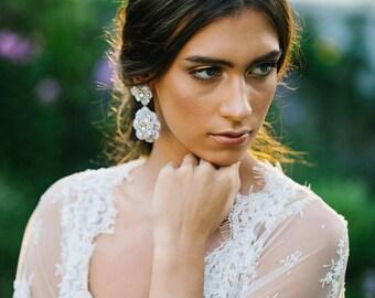 Wedding Cuff Bracelet | Pearl Bracelet | Crystal Bracelet | Statement Cuff | Wedding & Bridal Jewelry | Something Blue | For the Bride