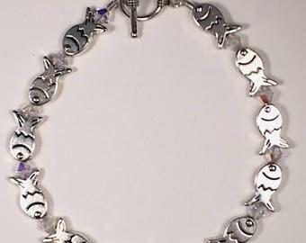 Little Silver Fish Bracelet