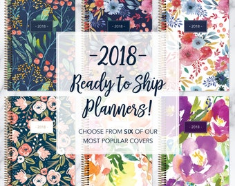READY TO SHIP - 2018 planners | weekly planners | January-December 2018 calendar | ships in 1-3 business days