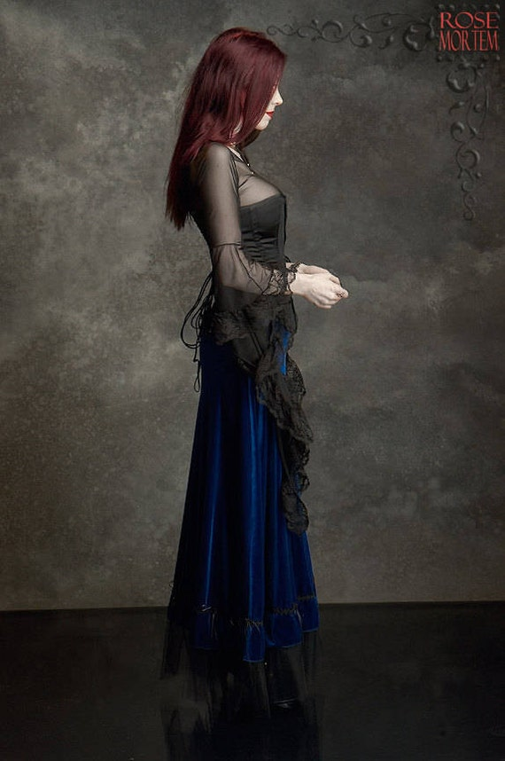 Grenadier Romantic Gothic Long Velvet Skirt