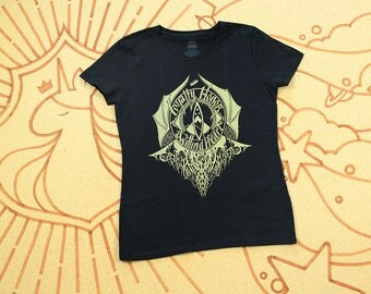Final Print Run // Hobbit Shirt // Loyalty Honor a Willing Heart // Hand Screen Printed // Black with gold ink // Available In Plus Sizes