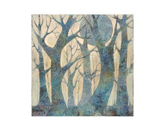 Original art, 20 x 20 inch painting of trees, artwork,painting, home decor, wall art, acrylic painting on canvas