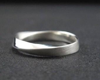 Mobius Wedding Band, Mobius Band, Mobius Ring, Wide Mobius Band, Modern Mobius Strip Ring, Gold Infinity Ring, Gold Mobius Wedding Band