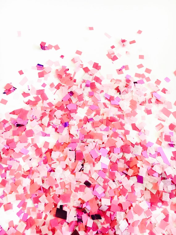 Pink sparkle confetti girl baby shower decor for Baby confetti decoration
