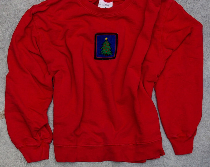Oversized Vintage Christmas Crewneck Unisex Size XXL Men's or Women's | Thin Sweat Shirt Long Sleeve Crew 6CA