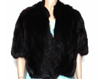 Vintage Fox Fur Stole | Black Fox Fur Stole | Glamorous Fox Fur Stole | Decadent Fox Fur Stole | Fox Fur Stole | Black Fox Stole |