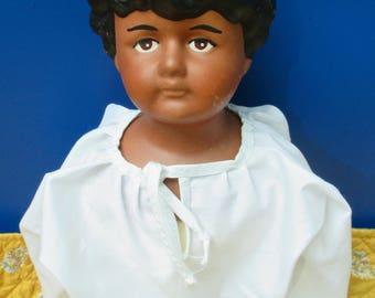 Plantation-Era Black Boy, repro china doll