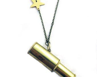 Stargazer Telescope Necklace