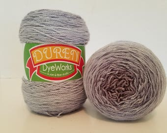 Hand dyed sock yarn Superwash Merino, Silk, Gradient cake, shawl yarn, fingering weight 600 yards 150 gr