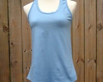 ORGANIC eco friendly tank top simple yoga hiking shirt drape babydoll handmade xs sm md ready to ship