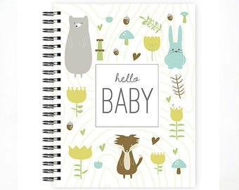 Hello Baby® Baby Book, Baby Memory Book, ANIMAL, Personalized Baby Book,  Baby Books, The Sweet Rhino