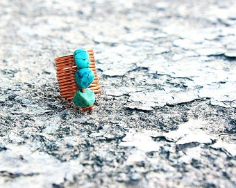Loc Jewelry Coil 1pc Genuine Turquoise Natural Stone