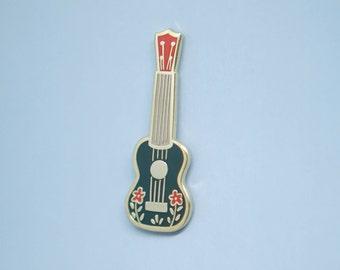 Ukulele (Blue) Enamel Pin // Hard Enamel - Enamel Pin - Pin - Lapel Pin - Flair - Brooch - Collar Pin - Hat Pin - By Justine Gilbuena