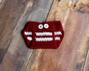 Oklahoma Sooners Diaper Cover - newborn baby child toddler infant Stanford Cardinal knit nappy cover baby bloomers