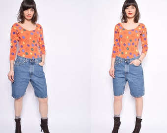 Vintage 90's Levi's 550 Orange Tag  Jean Shorts / Levi's Blue Denim Shorts