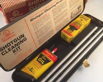 Vintage Shotgun Cleaning Kit in Original Box by Outers, 12 Gauge Shotgun Cleaning Kit, NO. P-478