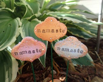 Miniature Fairy Garden Decoration, Namaste Fairy Sign, Yoga Fairy Garden Sign