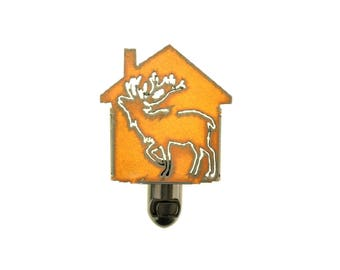 Elk Rusty Metal Night Light