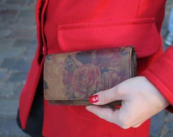 Madamzel Multi-compartment Wallet Dark Vintage Floral Print