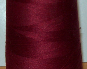 100% Cotton Cone Thread. 12000 Yards Made in the U.S.A. Cardinal Red