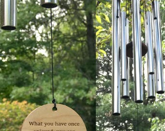 Breathtaking Wind Chime What We Have Onced Loved Gift After Death Loss Of Loved One In Memory of baby mom dad or loved one