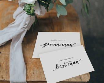 4 x Thank You For Being My Best Man, Thank You Card Groomsman, Best Man Card, Thank You Card, Thank You Wedding Cards, Usher, Best Man, K3
