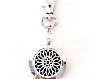 Sunflower Aromatherapy Essential Oil Zipper Pull/Keychain