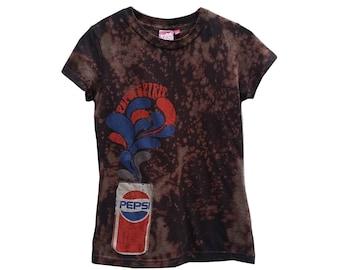 Retro Pepsi Cola TShirt Pop Top Womens Acid Washed Pepsi Spirits Graphic  Tee Soda Gift For
