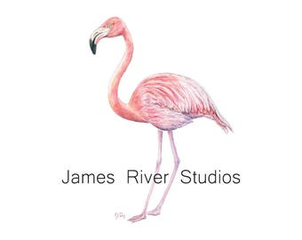 Flamingo Watercolor Coastal Art Print Flamingo Art Flamingo Print Flamingo Wall Art Flamingo Decor Pink Flamingo Beach Art Print Beach Decor