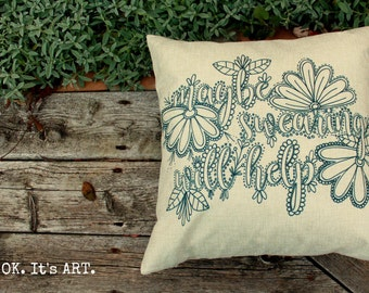 Maybe Swearing Will Help-Adult Coloring Pillow COVER ONLY-Funny Pillow,Throw Pillow Cushion,Decor Cushion, Couch Pillow, Decor Pillow