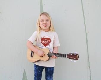 I Support Human Rights Organic Cotton Kids Tee Shirt