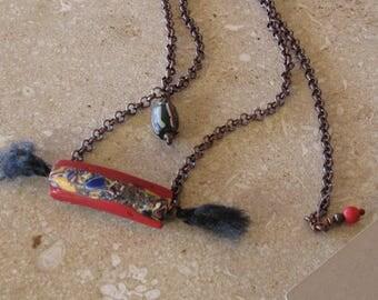 Venetian Mosaic glass trade bead chain