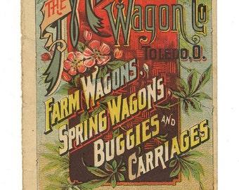 moline plow milburn wagon co kansas tradecard advertising download