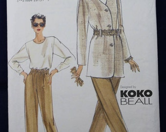 Sewing Pattern for a Woman's Top & Skirt in Size 12-14-16 - Vogue 9898