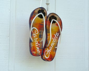 NEW Wedding Flip Flop guest book wood sign (100-120 guest signs) Guestbook alternative wooden board. Flip Flop wedding gift