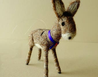 Christmas Ornament | Little Donkey Christmas Decoration | Seasonal Decor | Needle Felted Donkey Gifts | Farm Animal Figurine | Tree Ornament