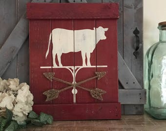RUSTIC FARMHOUSE ANIMAL decor, farmhouse nursery decor, farmhouse animals, cow decor, pig decor, chicken decor