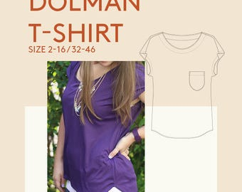 Sewing pattern tee shirt for women|Womens tshirt PDF sewing pattern|ladies top pdf sewing pattern|womens pdf tshirt pattern for sewing