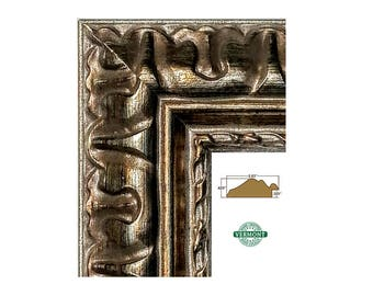 Ornate Bronze Picture Frame, Metallic Gold Silver, Photo, 4x6 5x7 8x10 9x9 10x12 12x12 11x14 12x14 16x20 17x20 18x24 20x24 23x27 24x30 24x36