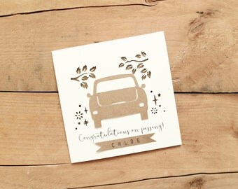 Personalised Driving Test Card / You Passed Card / Just Passed Card / Congratulations you Passed Card / Well Done Card / Driving Card /